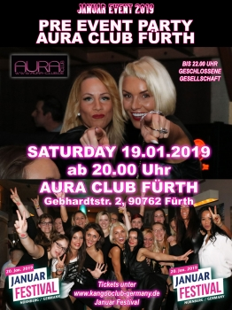 KJ PRE EVENT PARTY AURA CLUB